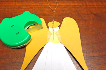 Paper Shapes Angel step 15 add tape