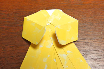 Paper Shapes Angel step 7 bend arms at elbows