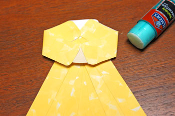 Paper Shapes Angel step 8 glue hands inside arms