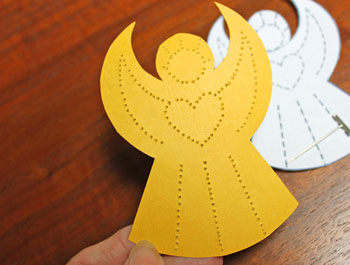 Pinpoint Paper Angel step 5 braille side of design