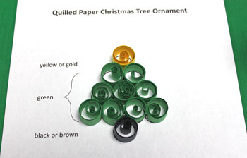 Quilled Paper Christmas Tree Ornament step 8 all circles glued