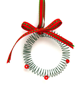 Spiral Wire Wreath Ornament