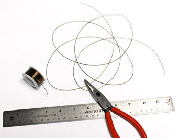 Spiral Wire Wreath Ornament step 1 measure and cut wire