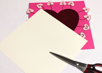 Valentine Advent Calendar step 12 cut backer board
