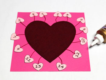 Valentine Advent Calendar step 13 glue backer board