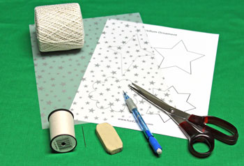 Vellum Ornament materials and tools