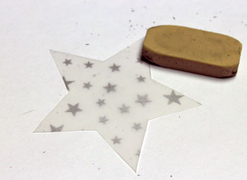 Vellum Ornament step 4 erase pencil marks