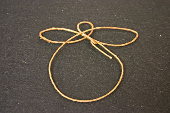 Easy Angel Crafts - Wire Angel - loop wire to make body